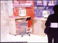Person looking in shop window
