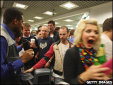A party on the London Underground