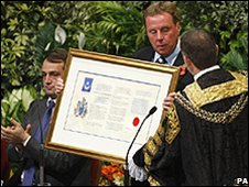 Redknapp made freeman of Portsmouth