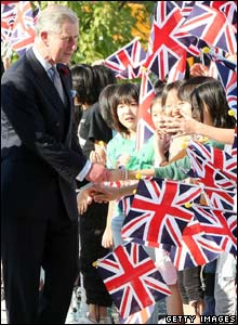 Prince Charles meets wellwishers in Japan