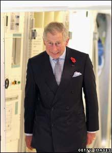 Prince Charles leaves a Space Habitation Module in Japan