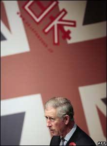 Prince Charles speaking in Japan