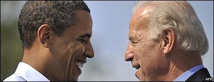 Barack Obama, presidente de Estados Unidos y Joseph Biden, vicepresidente. Foto de archivo: 28 de septiembre de 2008