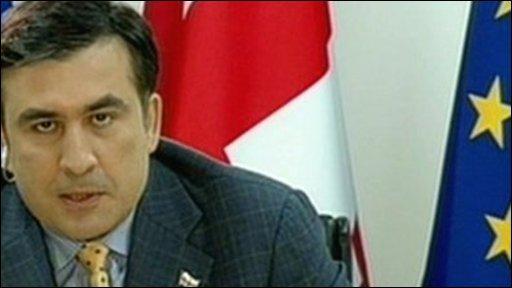 Georgia's president Mikhail Saakashvili