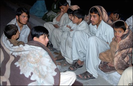 People on the street in Quetta, Pakistan (29/10/2008)