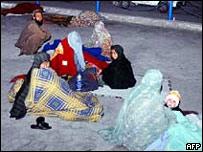 Жители Кветты после землетрясения