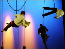 Trapeze artists: pic Bath Spa University