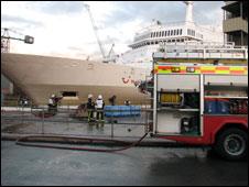 Pendennis Shipyard fire