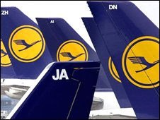 Lufthansa tailfins
