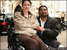 Debbie Purdy and her husband Omar Puente