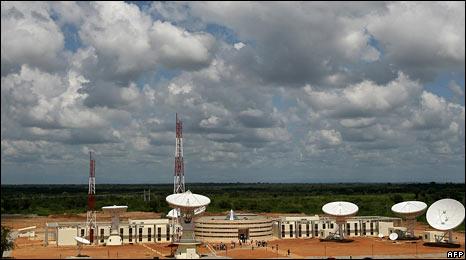 Venezuela's satellite control centre at El Sombrero
