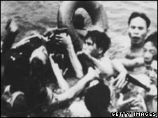 McCain being pulled out of lake