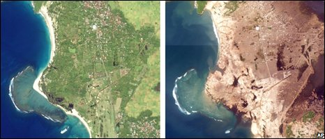 Tsunami before/after (AP)