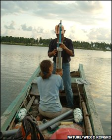 Lake sediment sampling (Widjo Kongko)