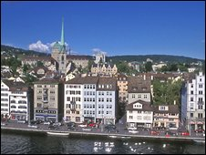 General view of Zurich