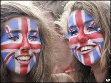 Women with faces painted