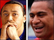 Samoa's Nigel Vagana and Tonga's Lapini Paea