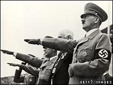 Hitler in swastika armband