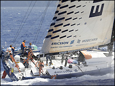 Ericsson 4 lead the Volvo Ocean race