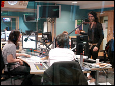 Russell Brand in the studio