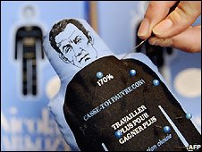 Sarkozy 'voodoo doll'