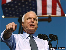 John McCain campaigns in Miami, Florida, 29 Oct