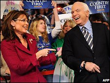 Sarah Palin and John McCain in Pennsylvania, 28 Oct