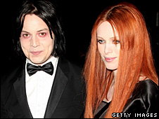 Singer Jack White and his guest