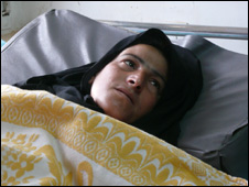 Souad Khousaim in hospital recovering from wounds she says she received in raid - 29/10/2008