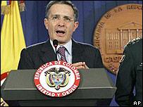 Presidente de Colombia, �lvaro Uribe.