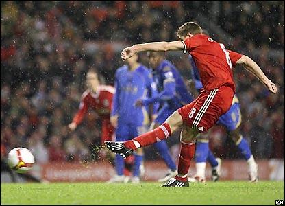 Gerrard scores Liverpool's winner