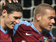 Luke Young and Gareth Barry