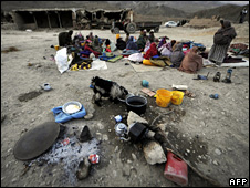 Survivors of the quake in Balochistan staying out in the open