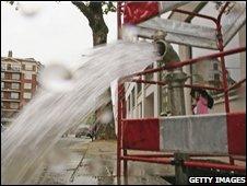 Burst water pipe repairs