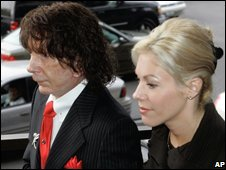 Phil Spector and wife Rachelle