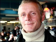 Mark Wilsmore in the Ace biker cafe