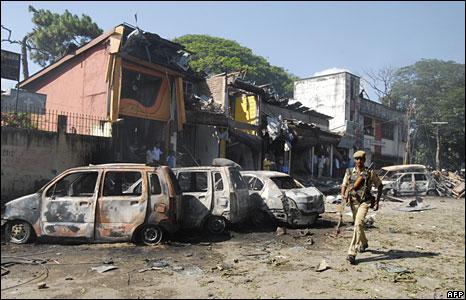A blast site in Guwahati, Assam
