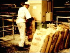 Asbestos being produced