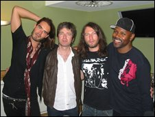 Russell Brand, Noel Gallagher, Matt Morgan and Mr Gee