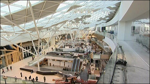 The Westfield Shopping Centre in West London cost £1.6bn and is the the size