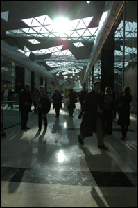 Shoppers at Westfield