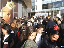 Crowds at the Westfield Centre on the opening day