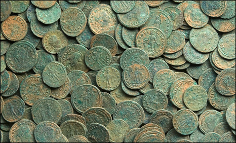 Some of the Roman coins
