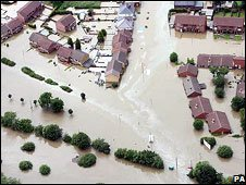 Catcliffe near Rotherham during the 2007 floods