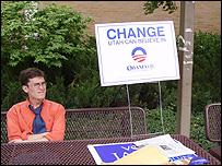 Obama placard