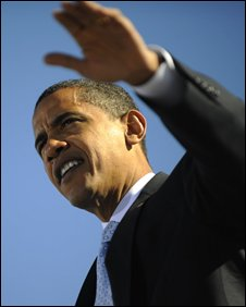 Obama at a rally in Florida on 30 October