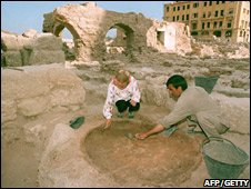 Archaeologists excavating Phoenician settlement in Beirut, Lebanon