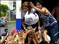 Disturbios por comida en Argentina en 2001 (foto archivo).