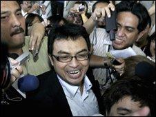 Abdul Razak Baginda celebrates his release