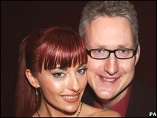 Lembit Opik with his former girlfirend, Cheeky Girl Gabriela Irimia